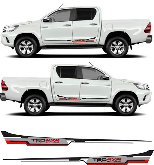 """Picture of Toyota Hilux MK6 / 7 / 8 """"TRD 4x4"""" side Stripes / Stickers"""