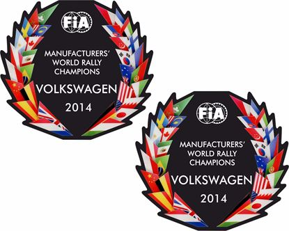 Picture of FiA World Rally Champions 2014 Decals / Stickers