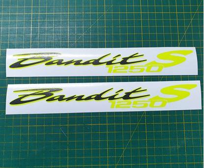Picture of Suzuki Bandit 1250S Decals / Stickers Fluorescent