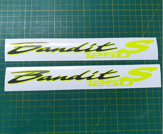 Picture of Suzuki Bandit 1250S Decals / Stickers Fluorescent