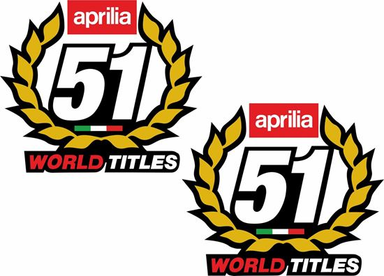 Picture of Aprilia SBK 51 World Titles Decals / Stickers