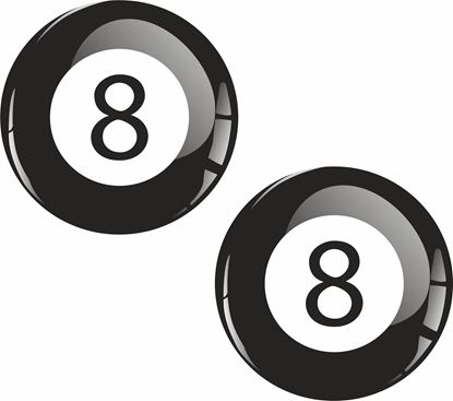 Picture of 8 Ball Decals / Stickers