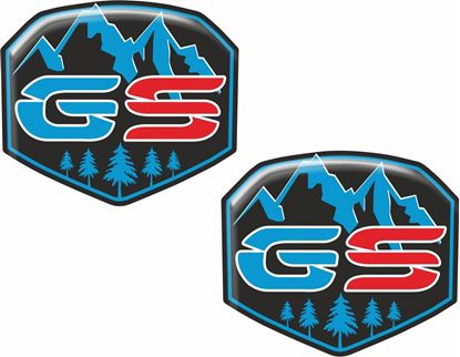 Picture of BMW GS 60mm Adhesive Gel Badges