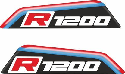"Picture of BMW GS ""R1200"" 80mm Adhesive Gel Badges"