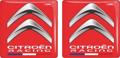 Picture of Citroen Racing adhesive Badges 50mm