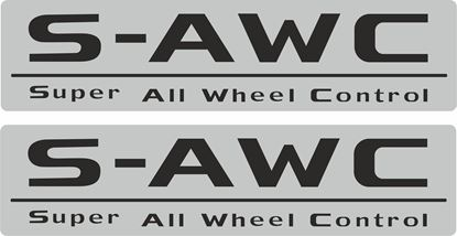 "Picture of Mitsubishi Outlander replacement ""S-AWC"" rear screen Decal / Sticker"