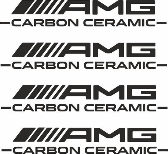 Picture of Mercedes AMG Carbon Ceramic Brake Caliper Decals  / Stickers