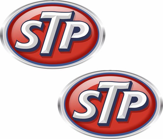 """Picture of """"STP"""" Decals / Stickers"""
