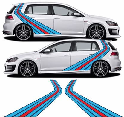 Picture of Martini vertical side Stripes / Stickers