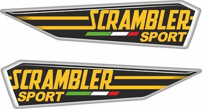 Picture of Ducati Scrambler Sport adhesive Gel Badges