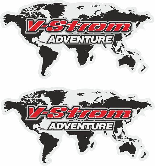 Picture of Suzuki V-Strom Adventure  Givi / Touratech Pannier  Decals / Stickers