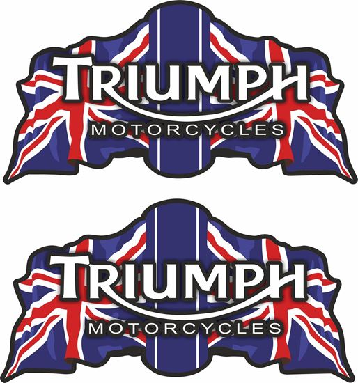 """Picture of """"Triumph Motorcycles"""" restoration Decals / Stickers"""