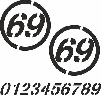 Picture of Racing Number Decals / Stickers