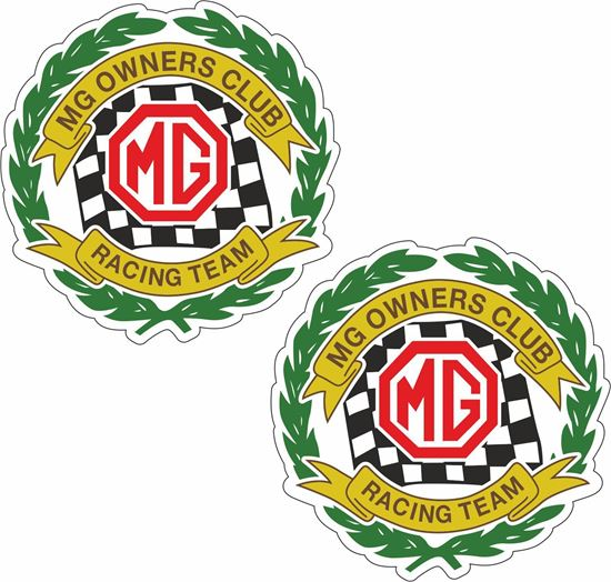 Picture of MG Owners Club Racing Team Decals / Stickers