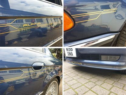 Picture of BMW 7 Series E38 Alpina  side , front and rear Stripes / Stickers