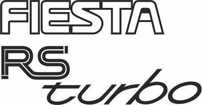 Picture of Ford Fiesta MK3 RS Turbo replacement rear Decal / Sticker