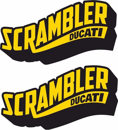 """Picture of """"Scrambler Ducati""""  Decals / Stickers"""