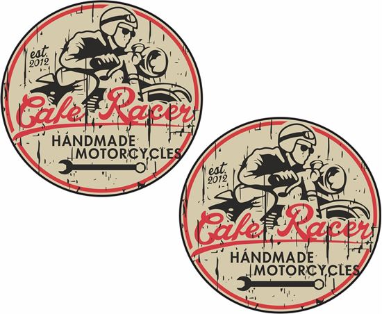 """Picture of """"Cafe Racer..."""" Decals / Stickers"""