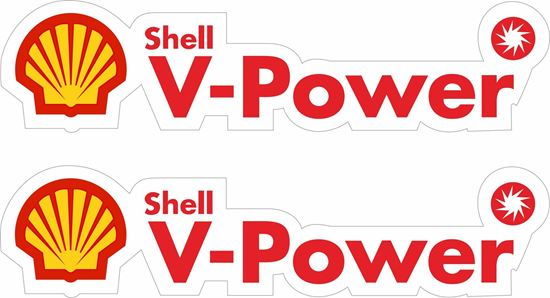 """Picture of """"Shell V-Power"""" Decals / Stickers"""