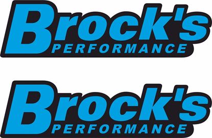 """Picture of """"Brock's Performance"""" Track and street race sponsor Decals / Stickers"""