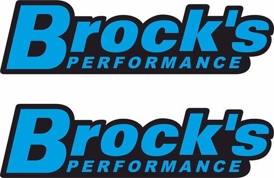 "Picture of ""Brock's Performance"" Track and street race sponsor Decals / Stickers"