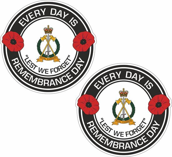 Picture of Royal Pioneers Lest we forget Stickers