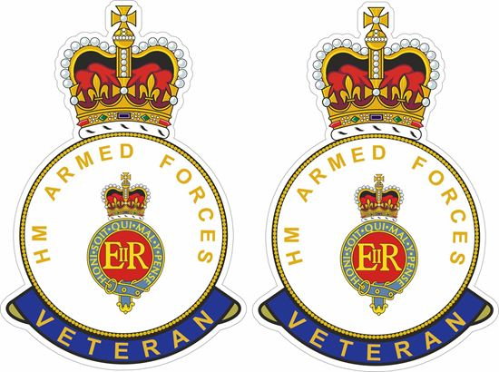 Picture of HM Blues and Royals Veteran Stickers