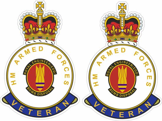 Picture of HM Royal Engineer Bomb Disposal Veteran Stickers