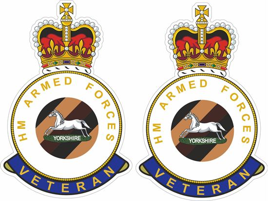 Picture of HM Yorkshire Regiment Veteran Stickers
