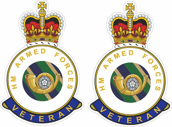 Picture of HM Kings Shropshire Light Infantry Veteran Stickers