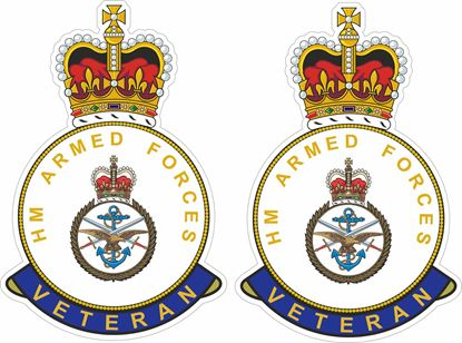 Picture of HM British Armed Forces Veteran Stickers