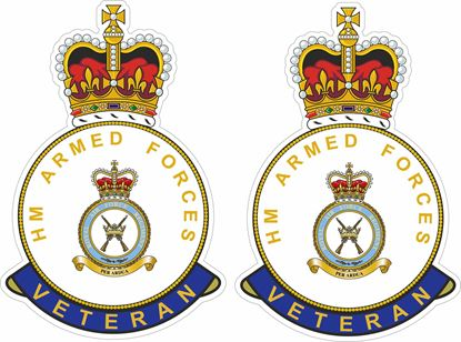Picture of HM RAF Regiment Veteran Stickers