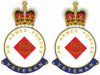 Picture of HM The Kings Own Royal Border Regiment Veteran Stickers
