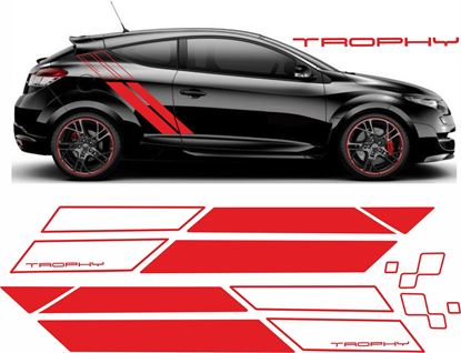 Picture of Renault Megane Trophy side Stripes  / Stickers