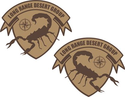 """Picture of Armstrong """"Long Range Desert Group""""Decals / Stickers"""
