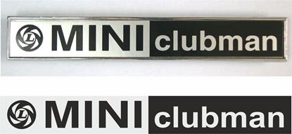 Picture of Leyland Mini Clubman rear Badge restoration inlay Decal