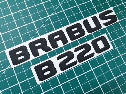 "Picture of Mercedes B Class ""Brabus B220""rear Badge Decals / Stickers"