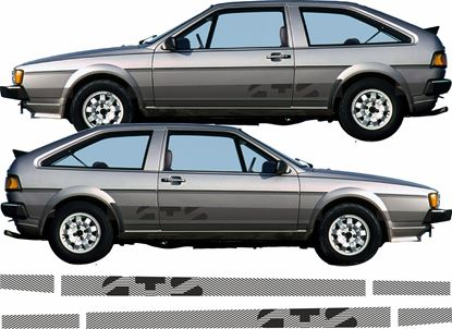 Picture of MK2 Scirocco GTS lower side restoration stickers /  Decals