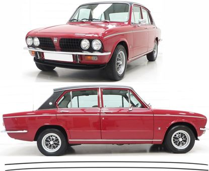 Picture of Triumph Dolomite side double Pin Stripes / Stickers