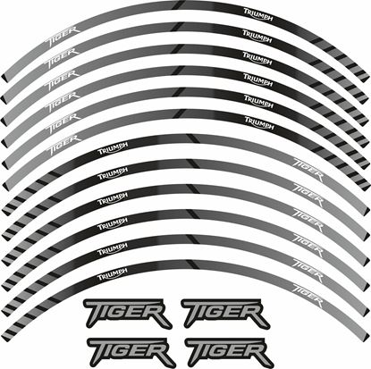 Picture of Triumph Tiger Wheel rim Decals / Stickers kit