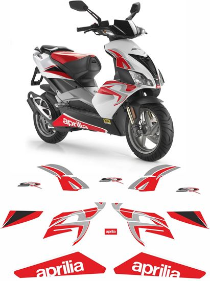 Picture of Aprilia SR50 R 2008  replacement Decals / Stickers