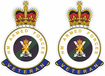 Picture of HM Regiment of Scotland Veteran Stickers