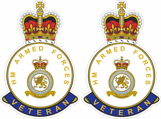 Picture of HM RAF Police Veteran Stickers