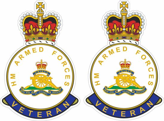 Picture of HM Royal artillery Veteran Stickers
