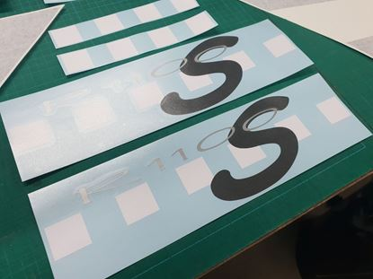 Picture of BMW R 1100 S Rear Panel Decals for Boxer Cup 2004