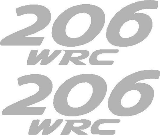 Picture of Peugeot 206 WRC replacement Decals / Stickers
