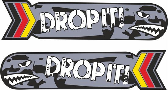 """Picture of """"Drop It""""  Decals / Stickers"""