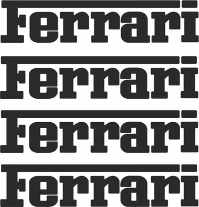 Picture of Ferrari Brake Caliper  Decals / Stickers 65mm