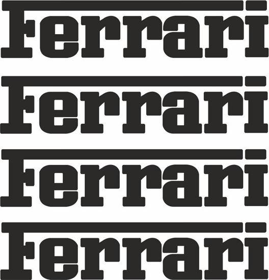 Picture of Ferrari Brake Caliper  Decals / Stickers 65mm