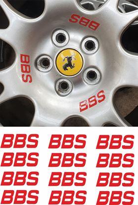"Picture of Ferrari ""BBS"" Wheel Decals / Stickers 55mm"